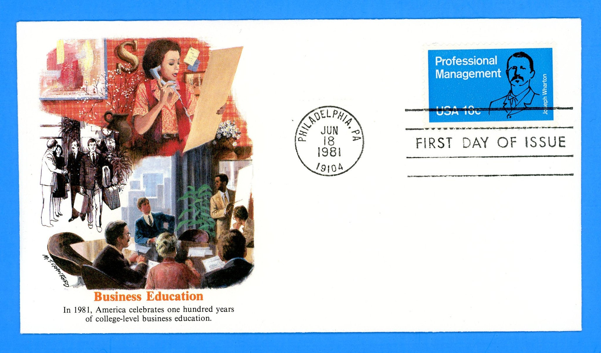 Professional Management First Day Cover by Fleetwood
