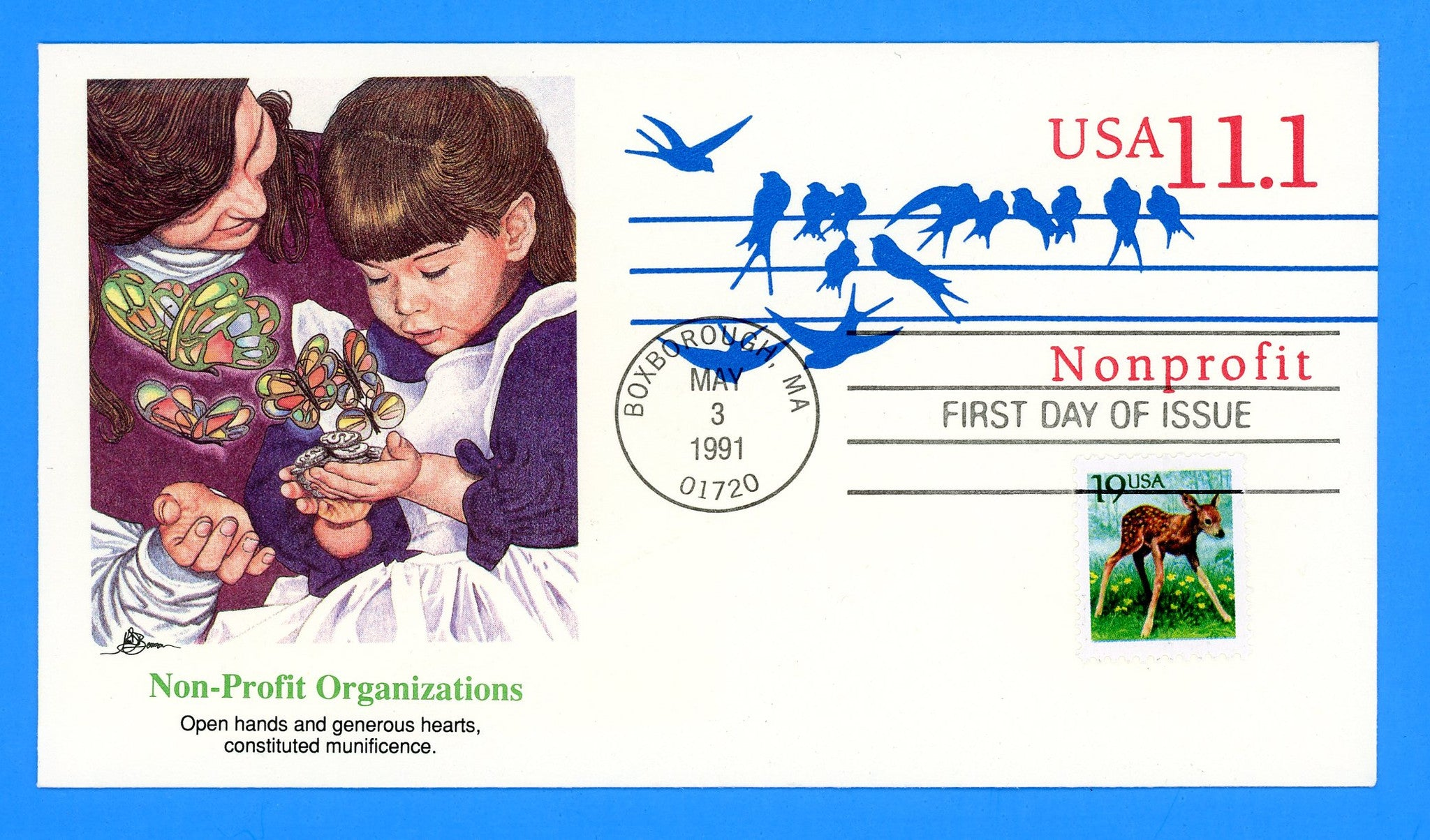 Birds on the Wire Nonprofit First Day Cover by Fleetwood