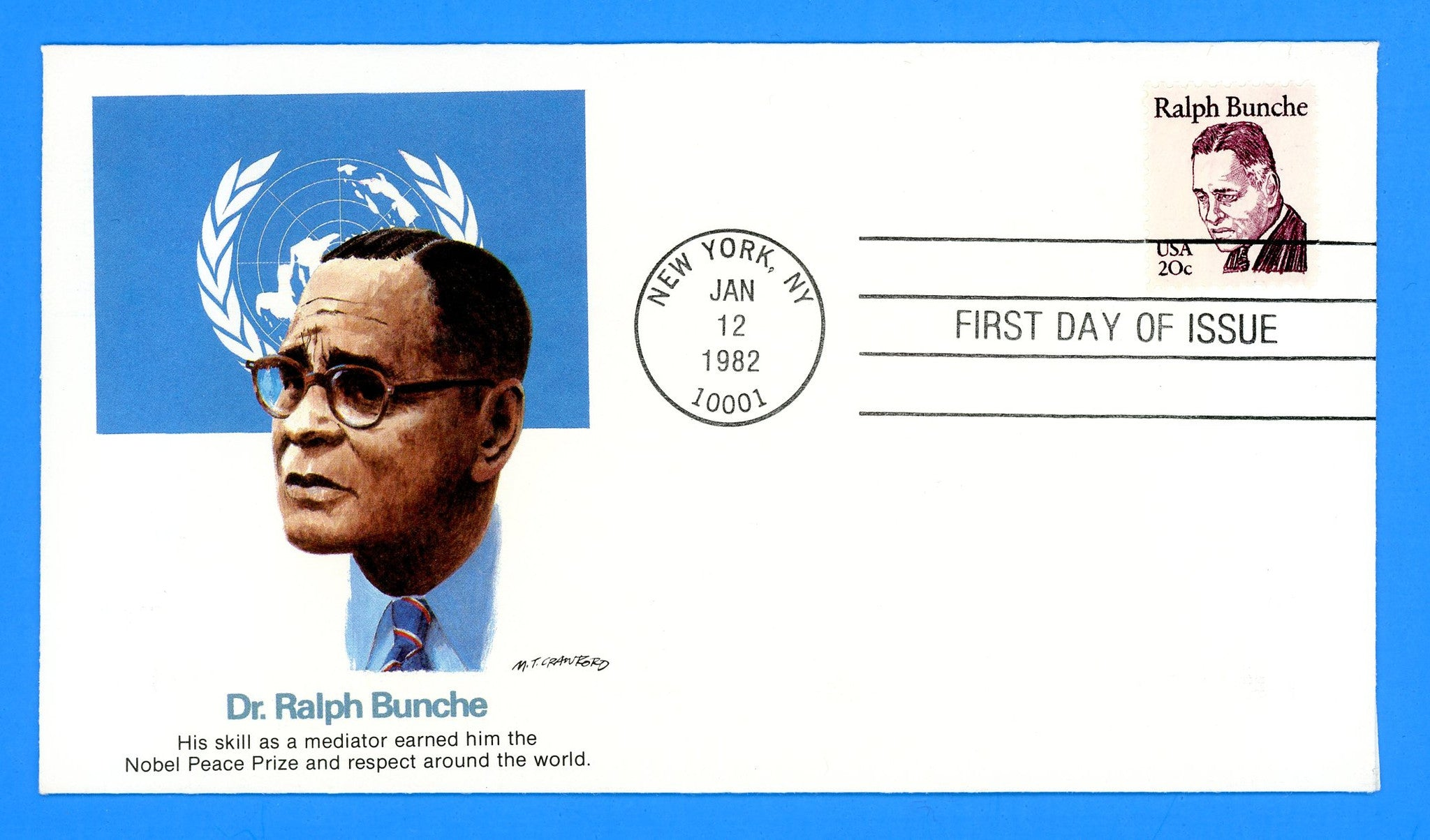 Ralph Bunche First Day Cover by Fleetwood