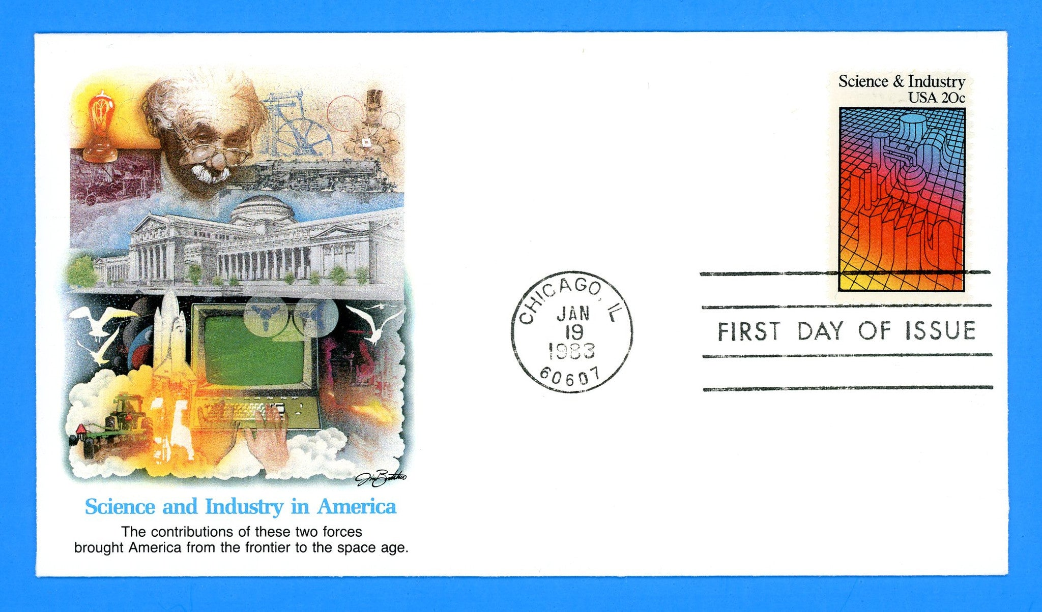 Science & Industry First Day Cover by Fleetwood