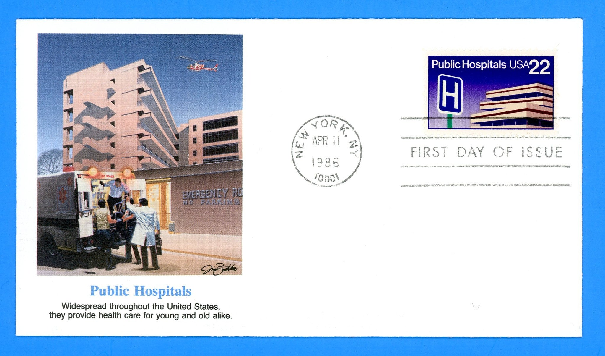Public Hospitals First Day Cover by Fleetwood