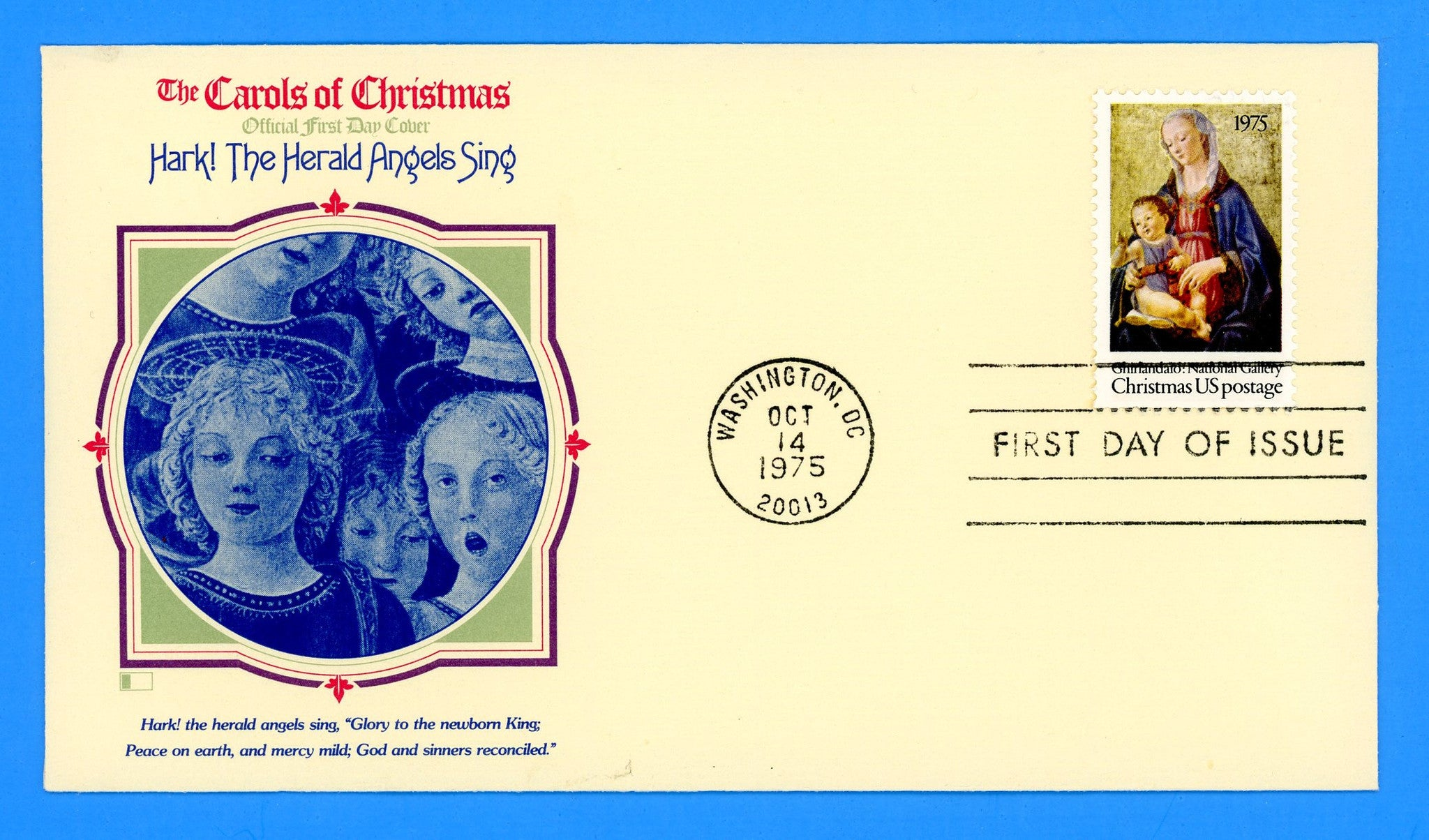 Christmas Madonna & Child 1975 First Day Cover by Fleetwood