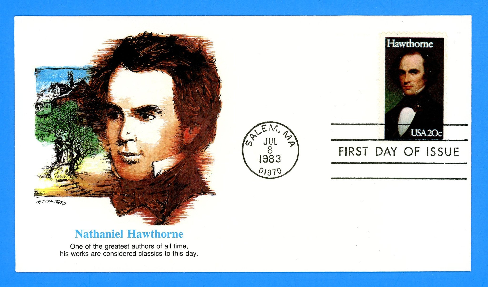Nathaniel Hawthorne First Day Cover by Fleetwood