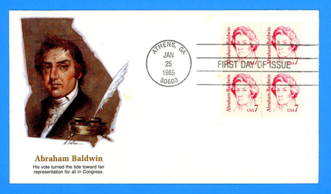 Abraham Baldwin First Day Cover by Fleetwood