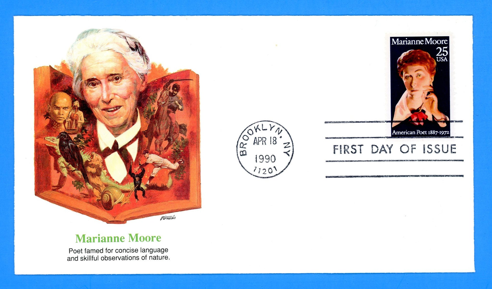 Marianne Moore, Poet First Day Cover by Fleetwood