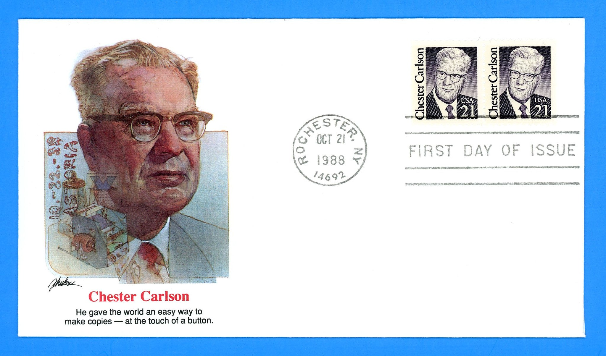 Chester Carlson First Day Cover by Fleetwood