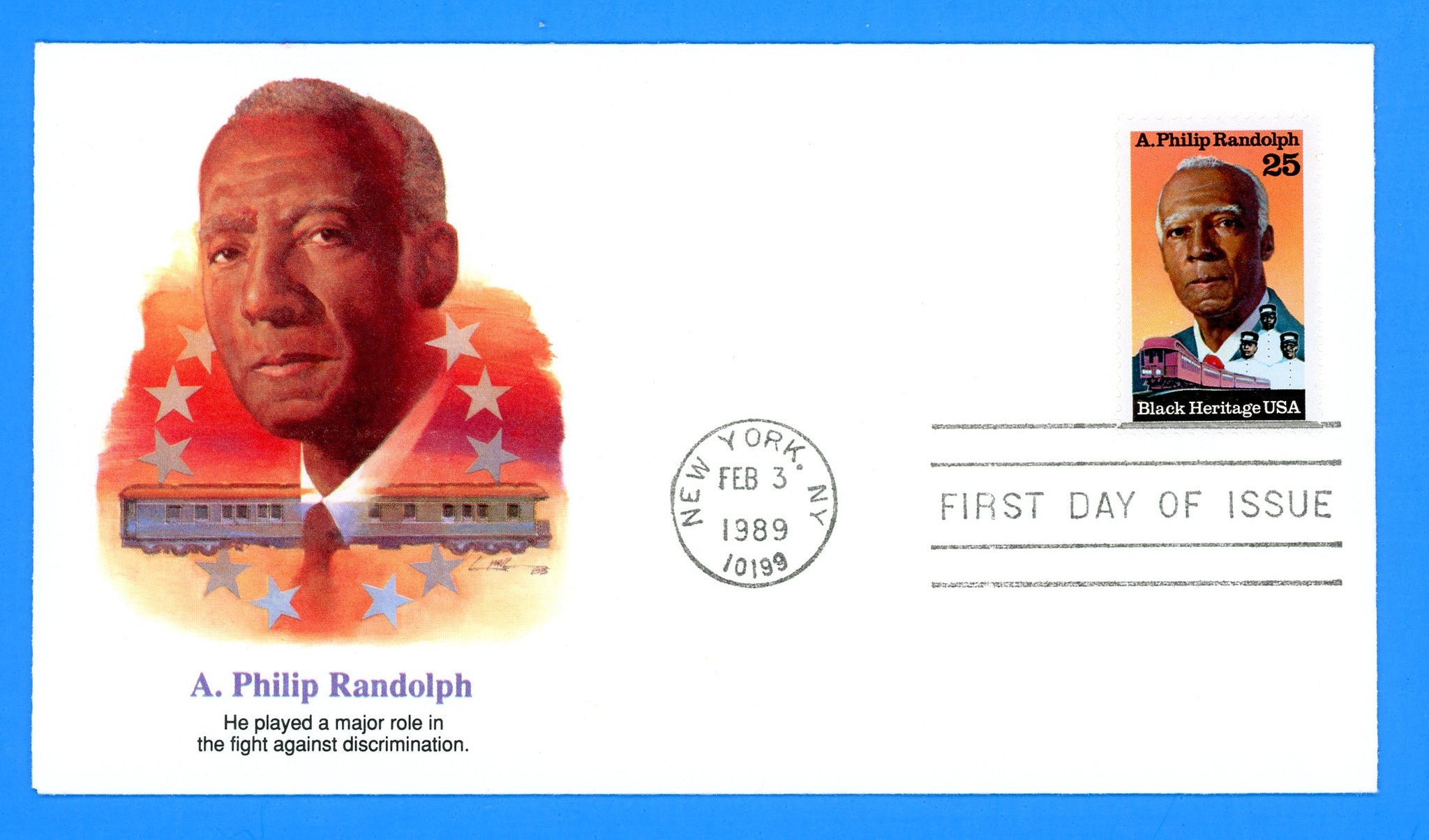A. Philip Randolph First Day Cover by Fleetwood