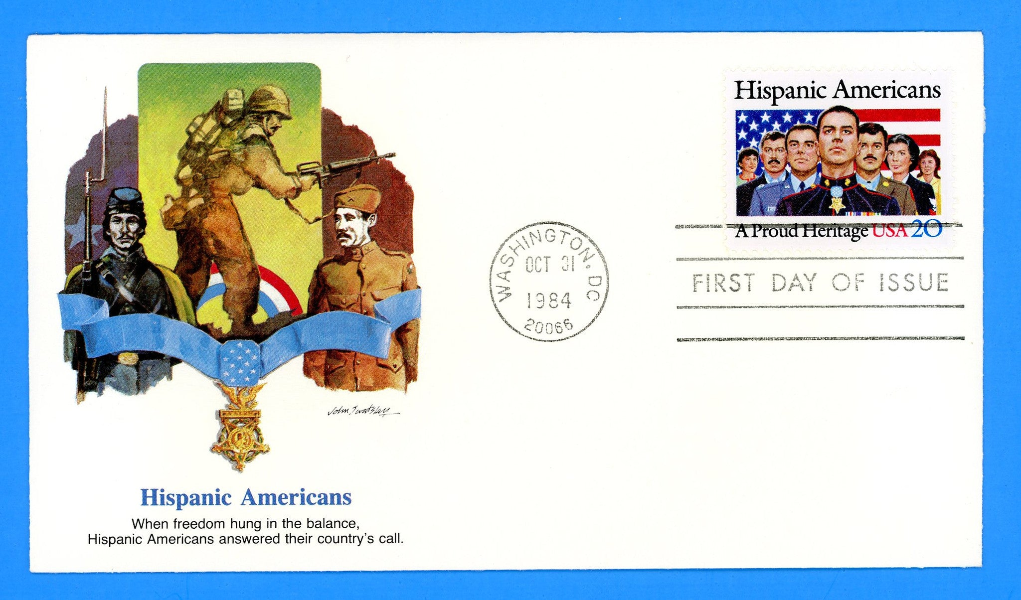 Hispanic Americans First Day Cover by Fleetwood