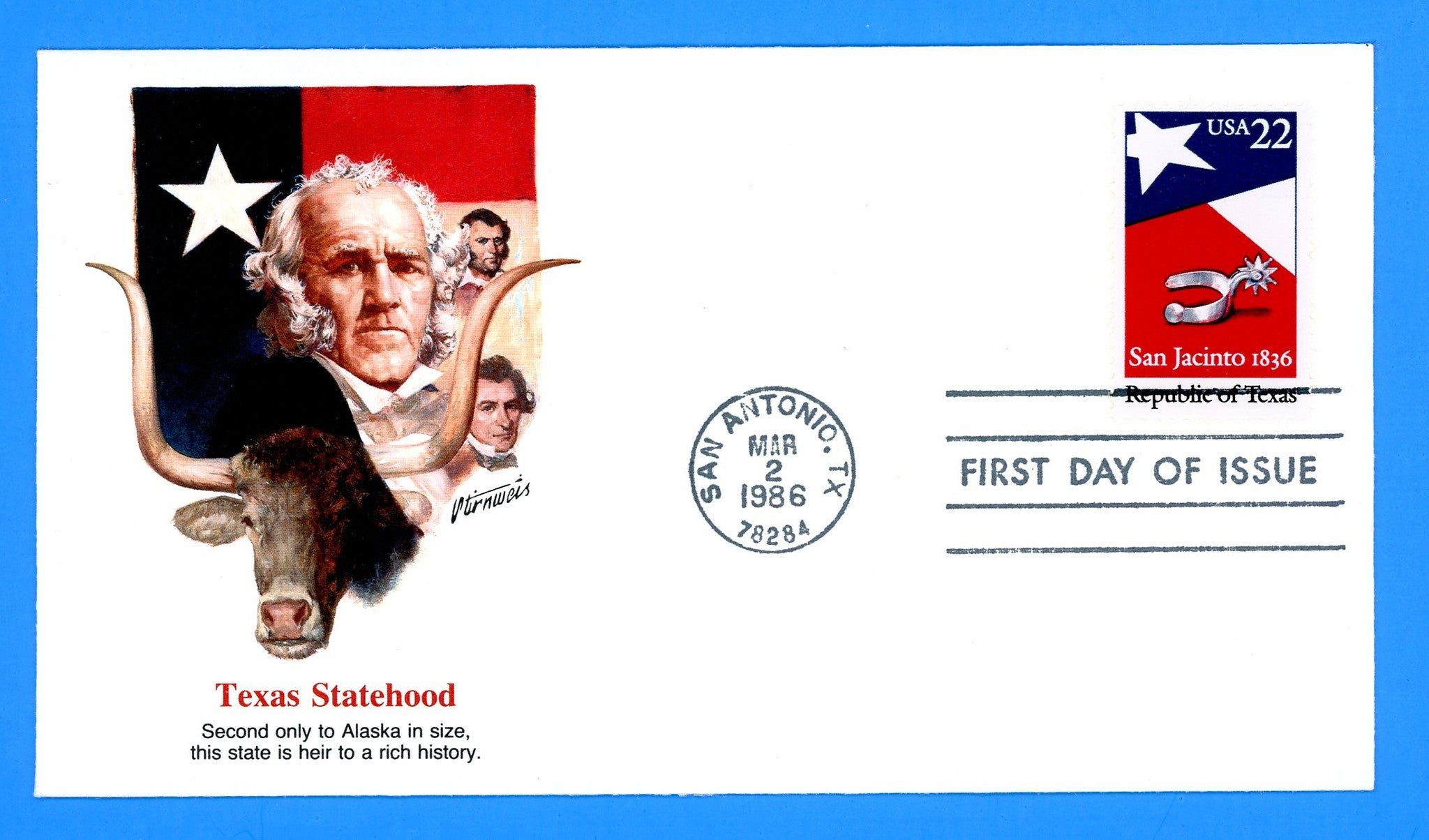 Republic of Texas, San Jacinto First Day Cover by Fleetwood