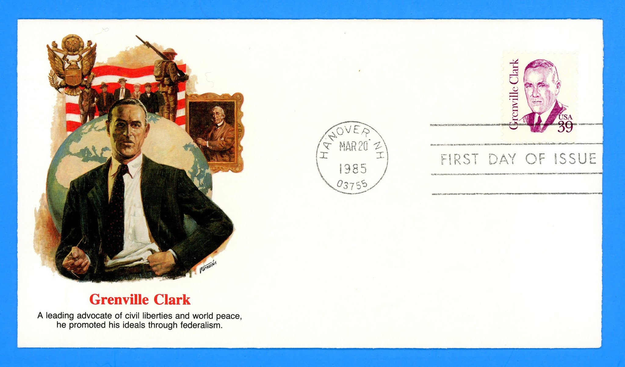 Grenville Clark First Day Cover by Fleetwood