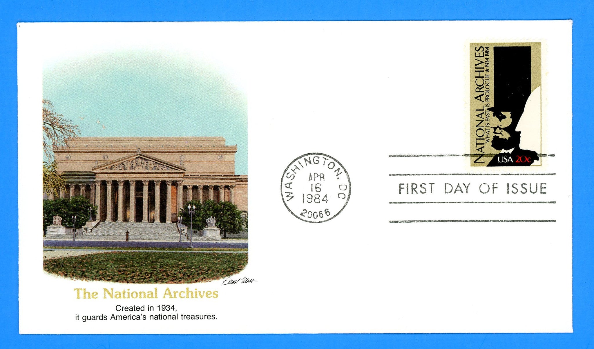 National Archives First Day Cover by Fleetwood