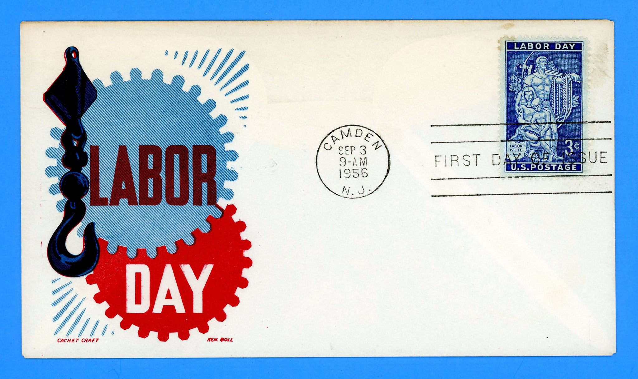 Scott 1082 Labor Day First Day Cover by Cachet Craft/Boll
