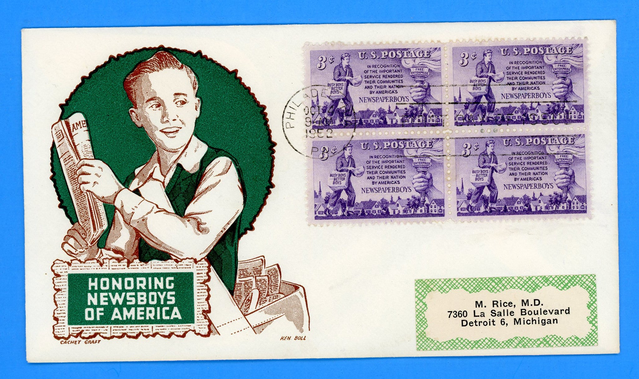 Scott 1015 Newspaper Boys First Day Cover by Cachet Craft/Boll
