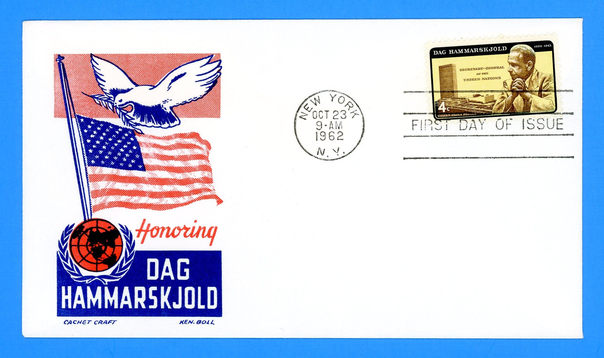 Scott 1203 Dag Hammarskjold First Day Cover by Cachet Craft/Boll
