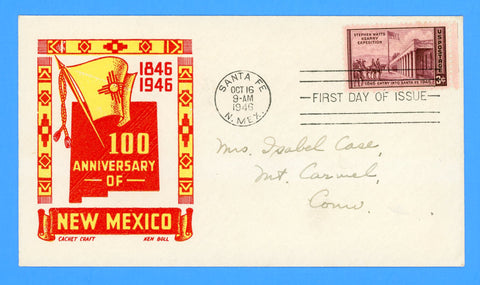 Scott #944 Kearny Expedition First Day Cover by Cachet Craft/Boll