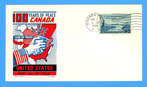 Scott #961 U.S. Canada Friendship First Day Cover by Cachet Craft/Boll