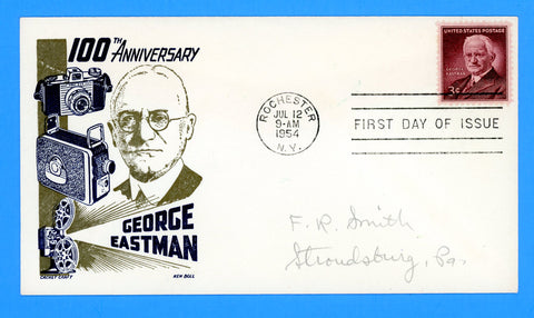Scott #1062 George Eastman First Day Cover by Cachet Craft/Boll
