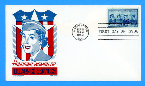 Scott 1013 Women in Our Armed Forces First Day Cover by Cachet Craft/Boll