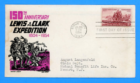 Scott 1063 Lewis and Clark First Day Cover by Cachet Craft/Boll
