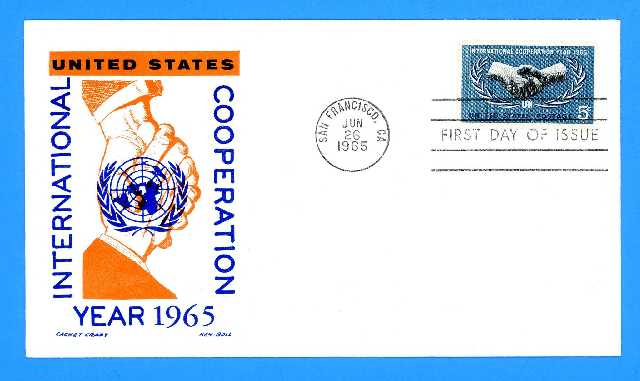 Scott 1266 International Cooperation Year First Day Cover by Cachet Craft/Boll