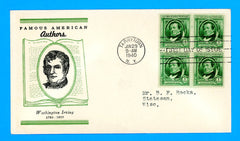 Scott #859 Washington Irving, Famous Americans First Day Cover by Linprint