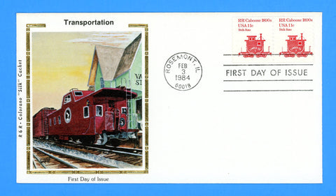 Scott 1905 Railroad Caboose First Day Cover by Colorano