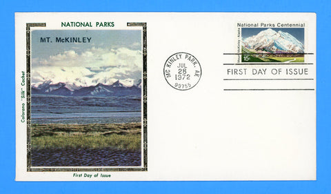 Scott 1454 Mount McKinley, Alaska National Parks Centennial First Day Cover by Colorano