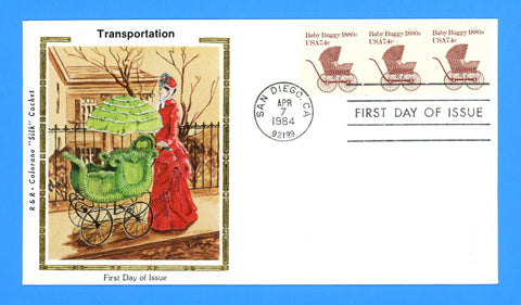Scott 1902 Baby Buggy First Day Cover by Colorano