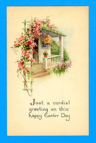 "Easter ""Just a Cordial Greeting"" Postcard"