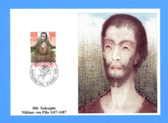 Liechtenstein - Scott 863 Death of Niklaus von Flue First Day of Issue Maxi Card