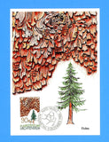 Liechtenstein - Scott 858-60 Tree Barks Set of 3 First Day of Issue Maxi Cards