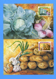 Liechtenstein - Scott 852-54 Crops Set of 3 First Day of Issue Maxi Cards