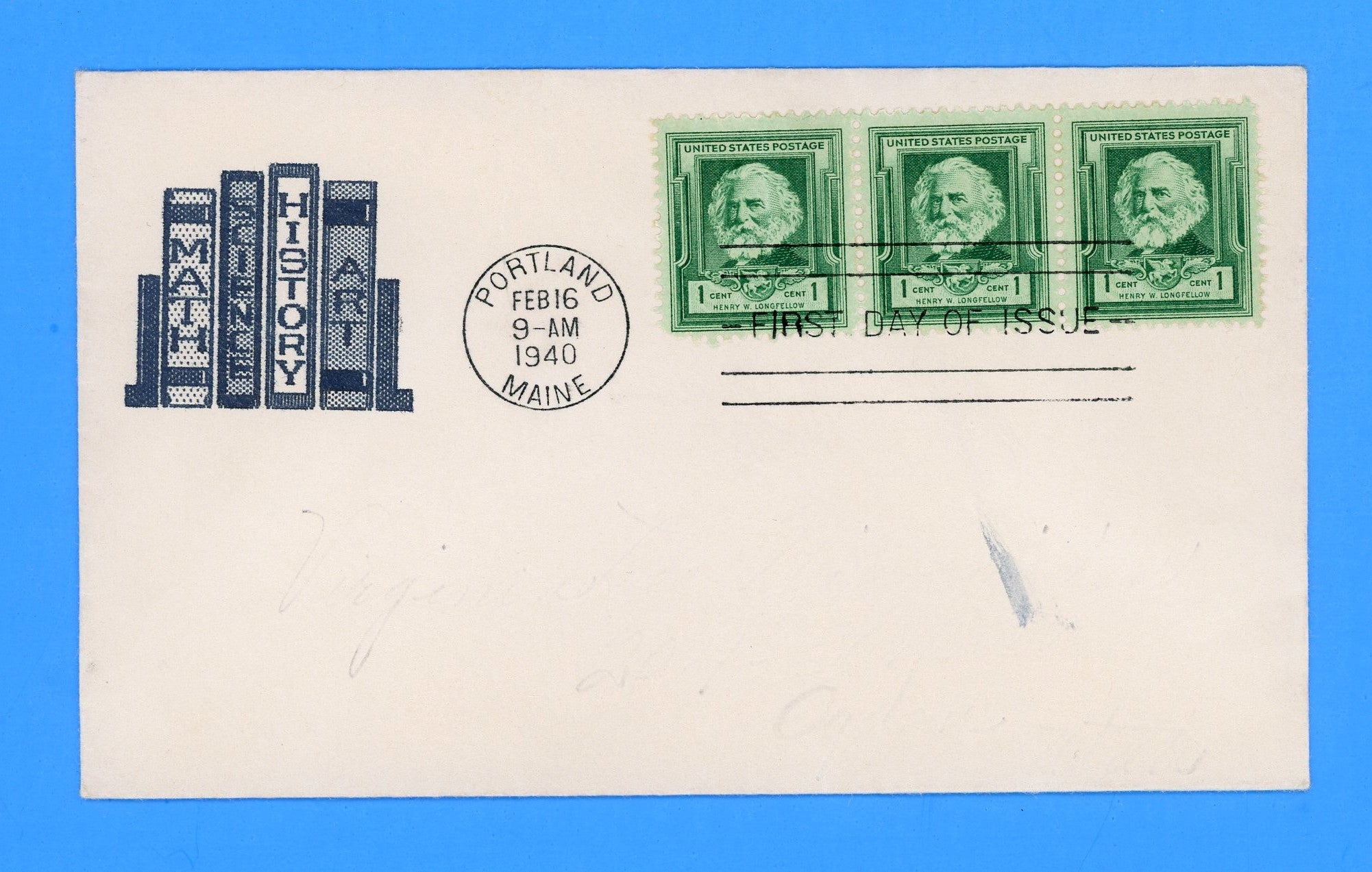 Scott #864 Henry Longfellow, Famous Americans First Day Cover