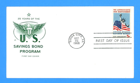 United States Savings Bonds First Day Cover by House of Farnum