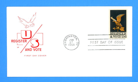 Register & Vote First Day Cover by House of Farnum