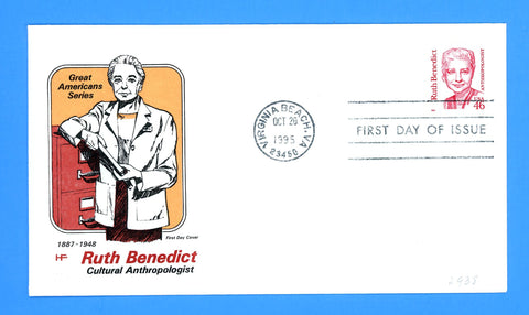 Ruth Benedict, Anthropologist First Day Cover by House of Farnum
