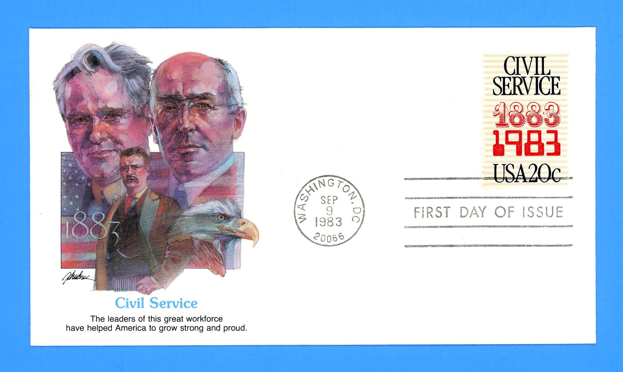 Civil Service First Day Cover by Fleetwood