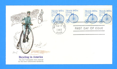 Bicycle, Transportation Series First Day Cover by Fleetwood