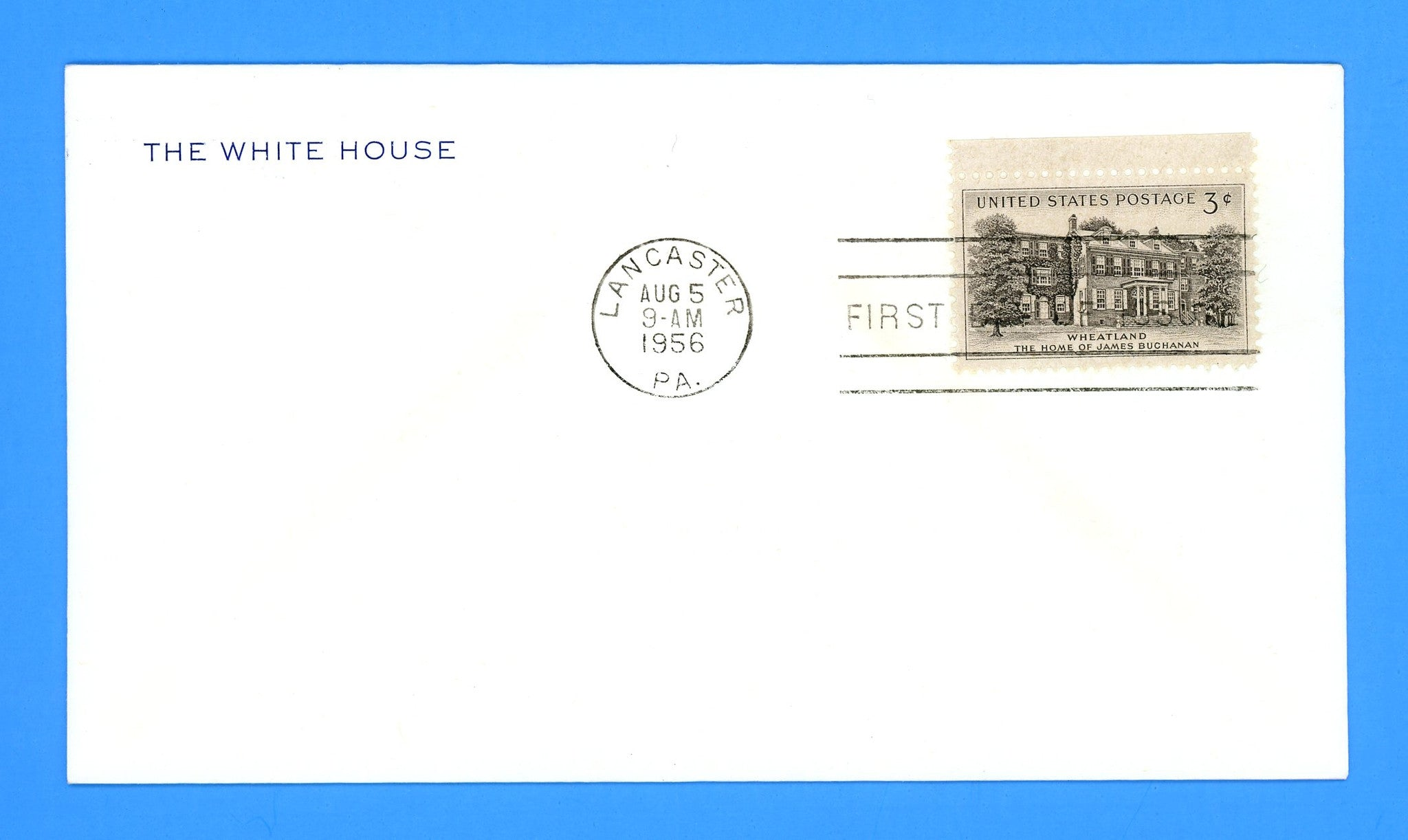 Scott 1081 Wheatland First Day Cover on Official White House Corner Card