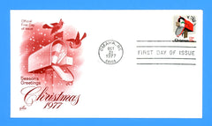 Christmas 1977 First Day Cover by Artcraft