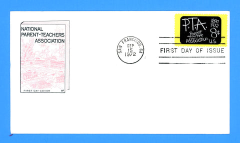 P.T.A. Parents Teacher Association First Day Cover by House of Farnum