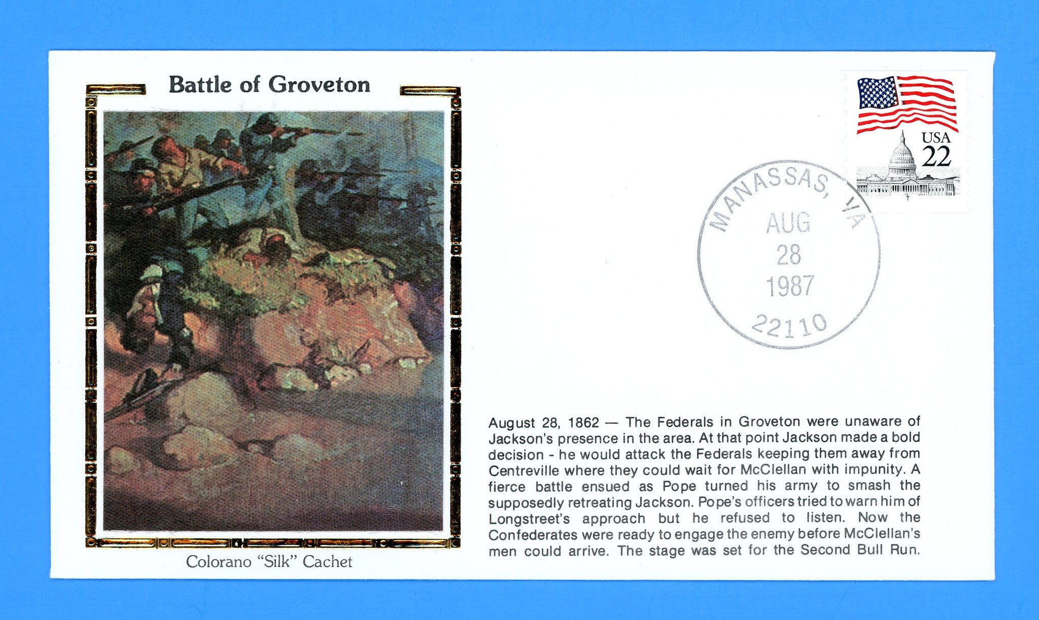 Civil War Battle of Groveton Anniversary August 28, 1987 by Colorano