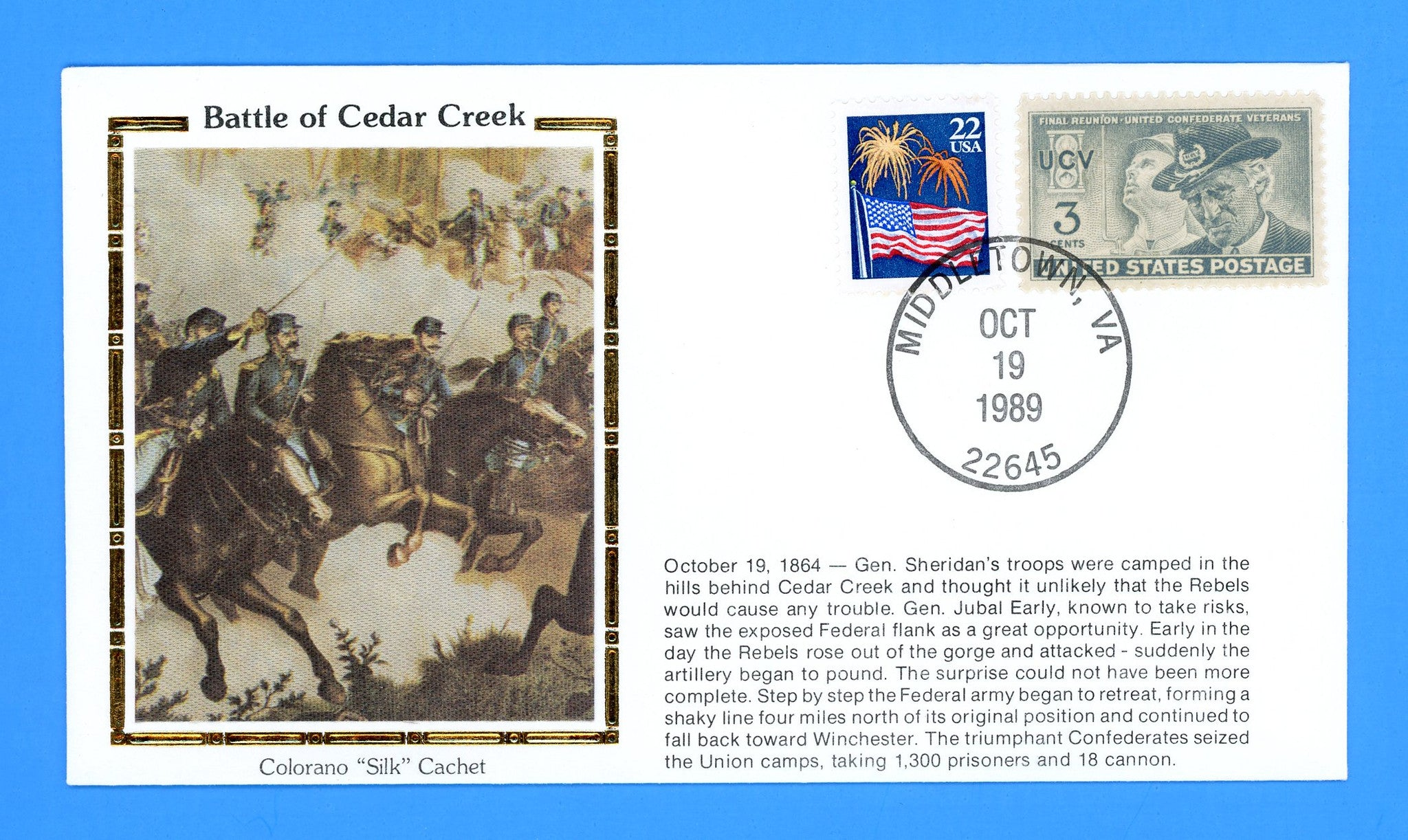 Civil War Battle of Cedar Creek Anniversary October 19, 1989 by Colorano