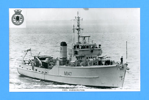 HMS Hubberston M1147 Unused Postcard by Gale & Polden (Blank Back)