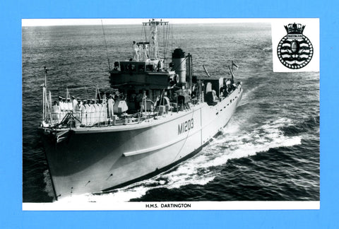 HMS Dartington M1203 Unused Postcard by Gale & Polden (Blank Back)