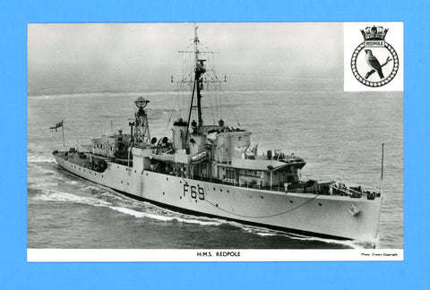 HMS Redpole F69 Unused Postcard by Gale & Polden