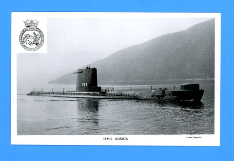 HMS Auriga S-69 Unused Postcard by Gale & Polden