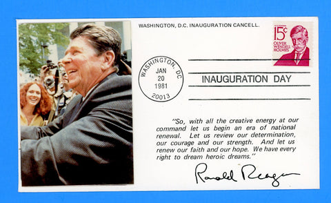 Ronald Reagan Inauguration Day First Term January 20, 1981 - Added Photograph