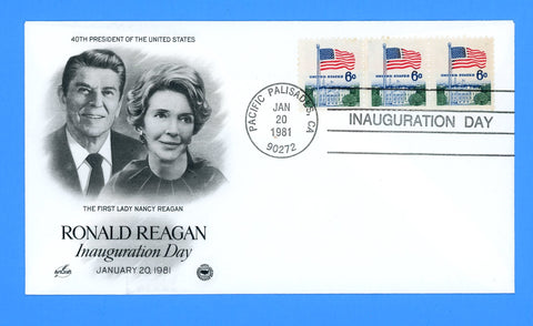 Ronald Reagan Inauguration Day First Term January 20, 1981 - Artcraft Cachet for Postal Commemorative Society