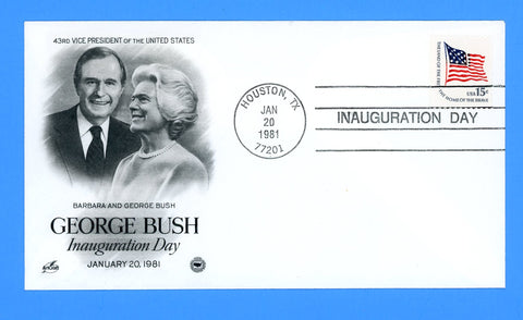 George H.W. Bush Vice Presidential Inauguration Day January 20, 1981 by Artcraft for the Postal Commemorative Society